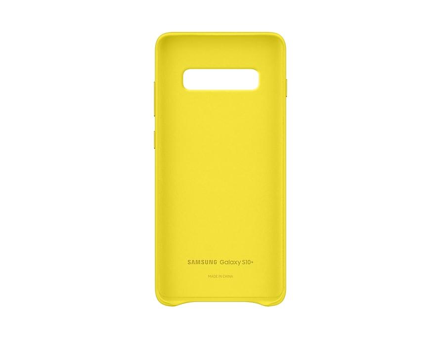Original Leather Cover Samsung Galaxy S10 Plus G975 Yellow EF-VG975LYE image