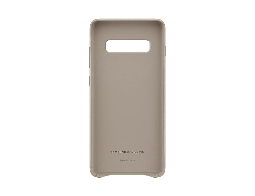 Original Leather Cover Samsung Galaxy S10 Plus Gray G975 EF-VG975LJE image