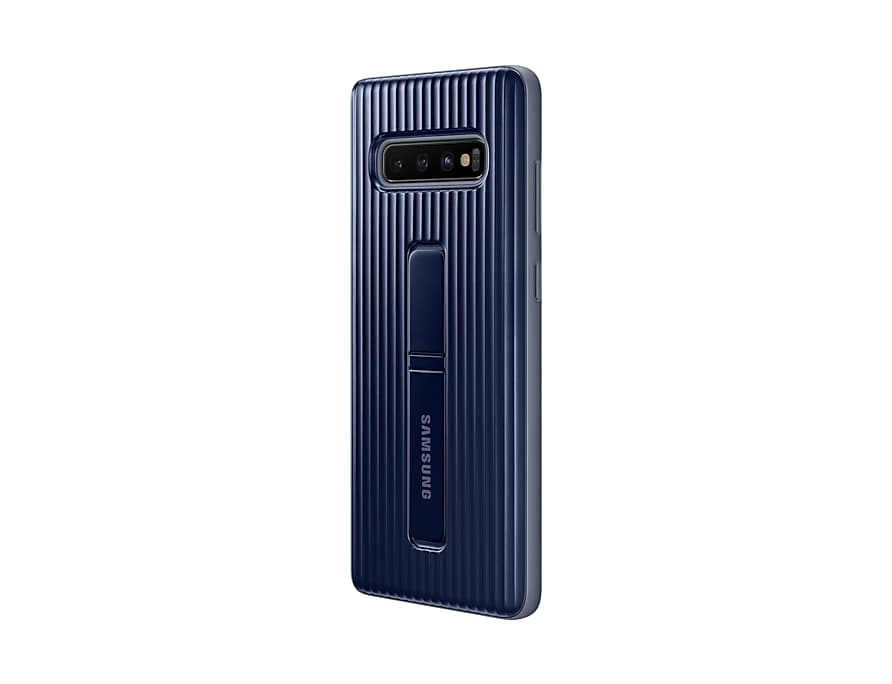 Original Protective Standing Cover Samsung Galaxy S10 Plus G975 Blue-Black EF-RG975CBE image