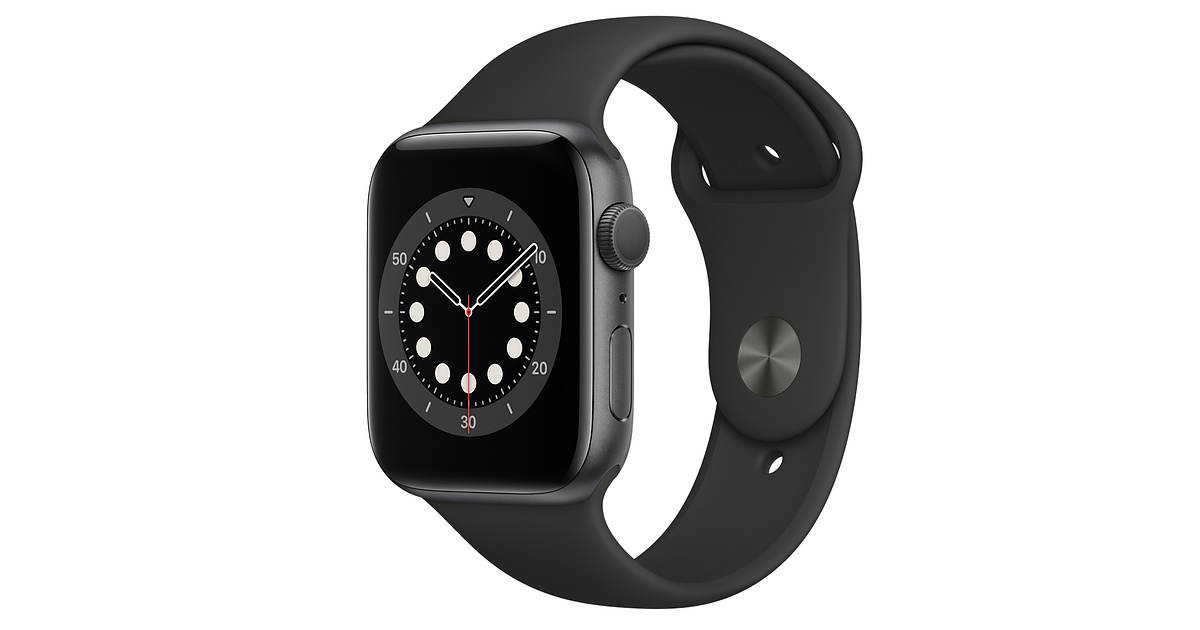 Apple Watch Series 6 GPS Alu 44mm Space Gray Black Sport Band M00H3 image