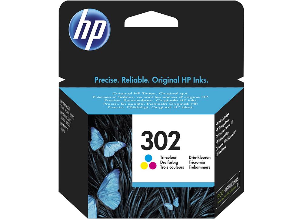 Γνήσιο Μελάνι HP 302 Tri-Colour F6U65AE image