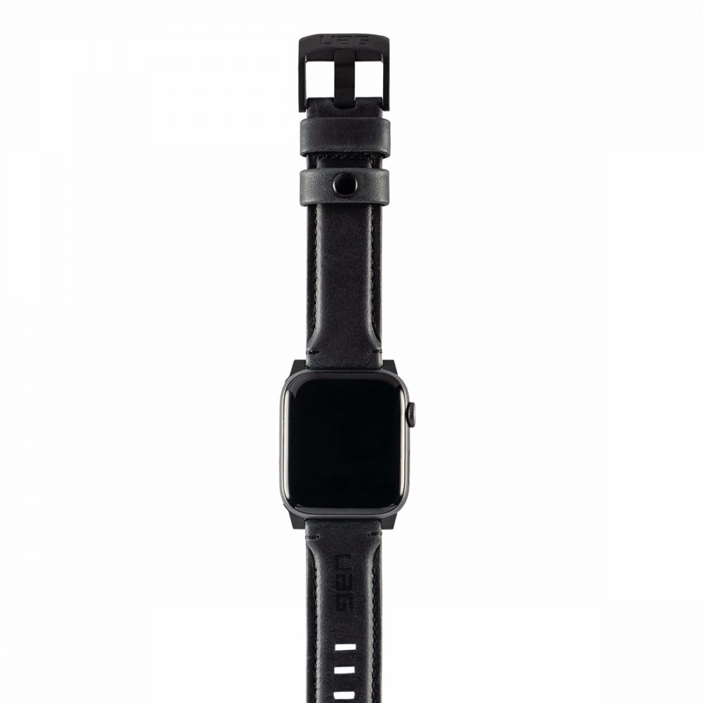 Ανταλλακτικό Λουράκι UAG Leather Strap Black Για Apple Watch 42mm/44mm 19148B114040 image