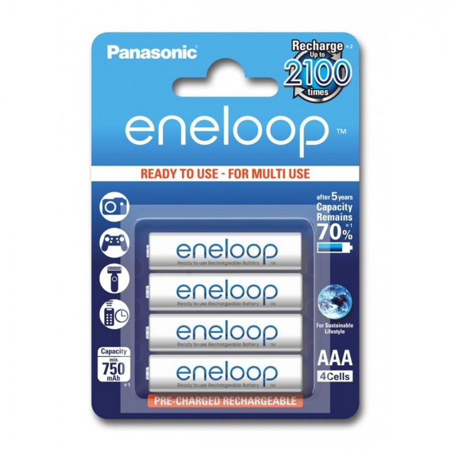 Eneloop 4x HR03/AAA 750mAh BK-4MCCE/4BE Panasonic image