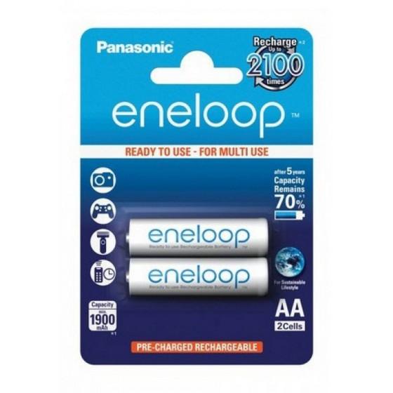 Eneloop 2x HR6/AA 1900mAh BK-3MCCE/2BE Panasonic image