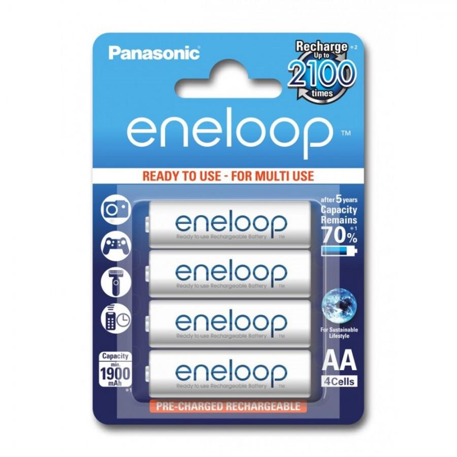 Eneloop 4x HR6/AA 1900mAh BK-3MCCE/4BE Panasonic image