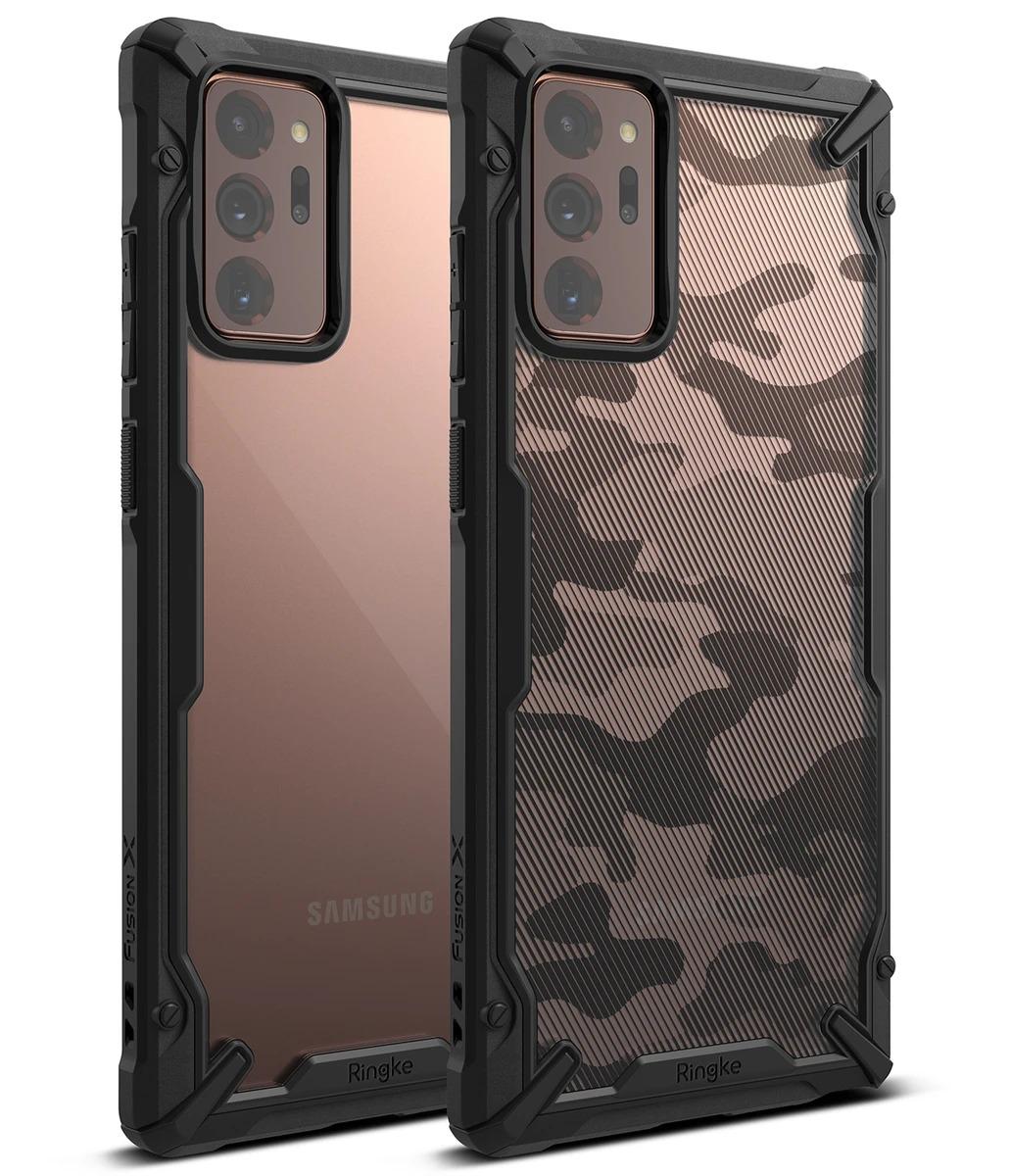 Samsung Galaxy S21 Ultra Fusion X Ringke Camo Black MIL STD 810G-516.6 image