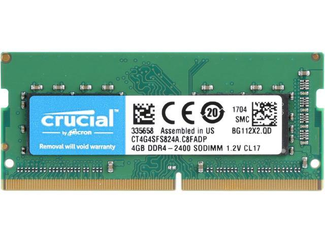 Crucial By Micron 4GB Ram DDR4 1.2V Για Φορητό 2400MHz CL17 CT4G4SFS824A image