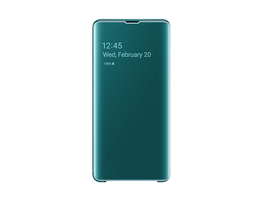 Original Clear View Cover Samsung Galaxy S10 Plus G975 Green EF-ZG975CGE image
