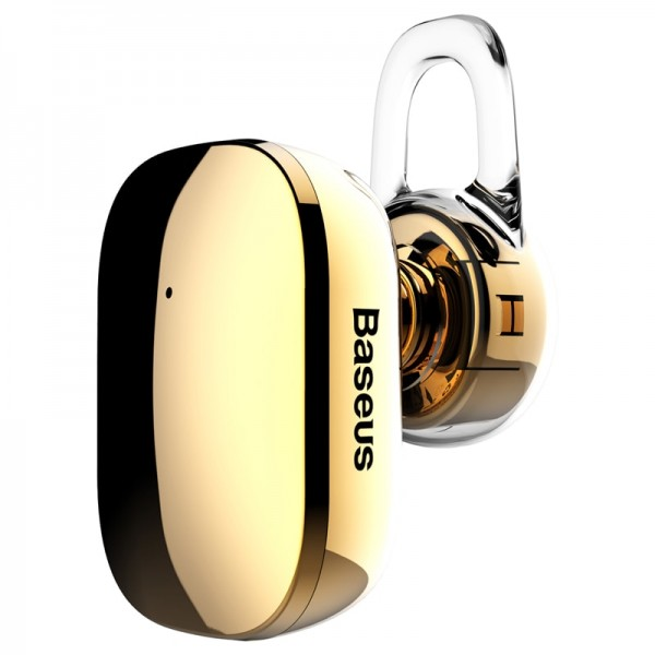 Bluetooth Mini Wireless Earphone A02 Gold Baseus NGA02-0V image