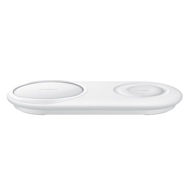 Ασύρματος Ταχυφορτιστής + Φορτιστής Samsung Galaxy S10, S10 Plus, S10e Duo Pad White EP-P5200TWE
