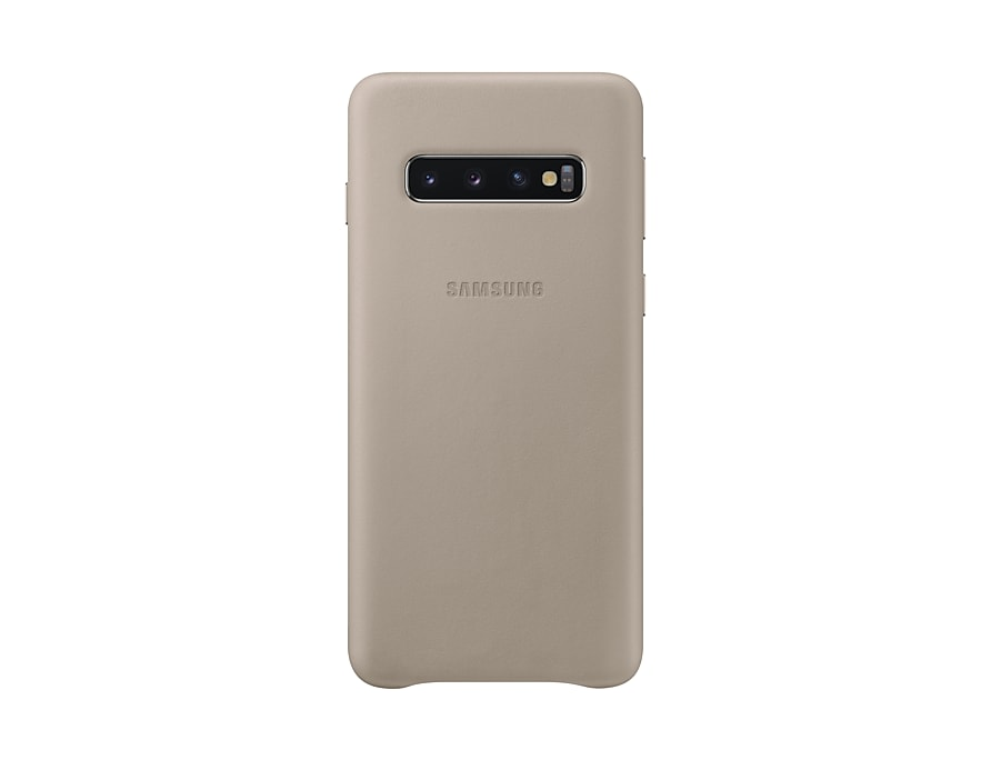 "Original Leather Cover Samsung Galaxy S10 6.1"" G973 Gray EF-VG973LJE image"