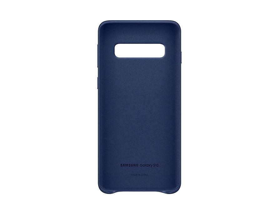 "Original Leather Cover Samsung Galaxy S10 6.1"" G973 Navy EF-VG973LNE image"