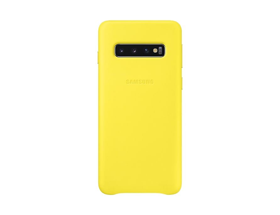 "Original Leather Cover Samsung Galaxy S10 6.1"" G973 Yellow EF-VG973LYE image"