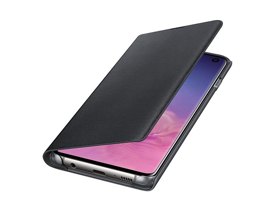 Original LED View Cover Samsung Galaxy S10 G973 Black EF-NG973PBE image