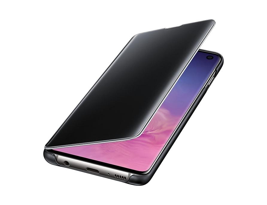 Original Clear View Cover Samsung Galaxy S10 G973 Black EF-ZG973CBE image