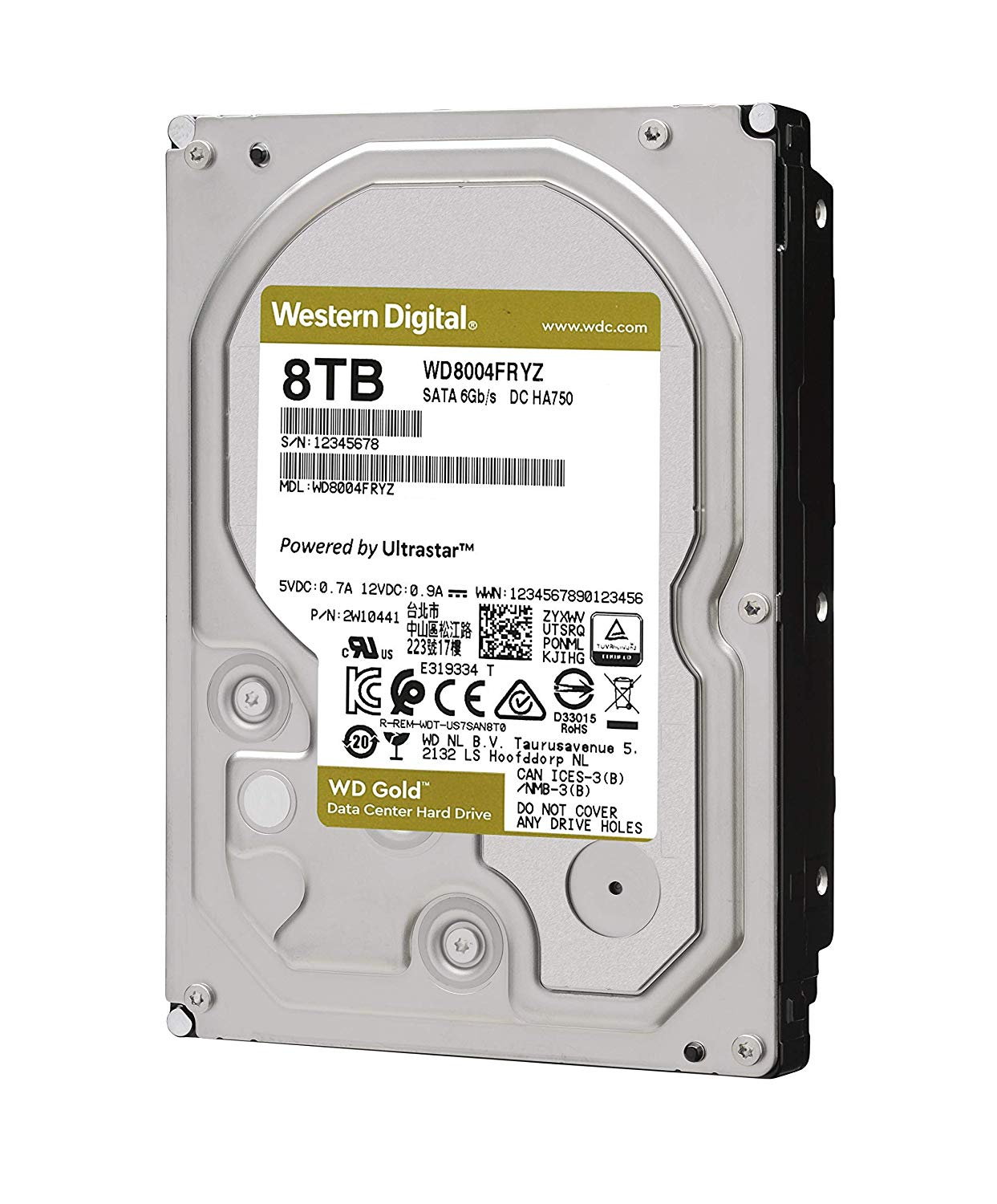 "HDD Western Digital Caviar GOLD 3.5"" 8TB WD8004FRYZ For NAS image"