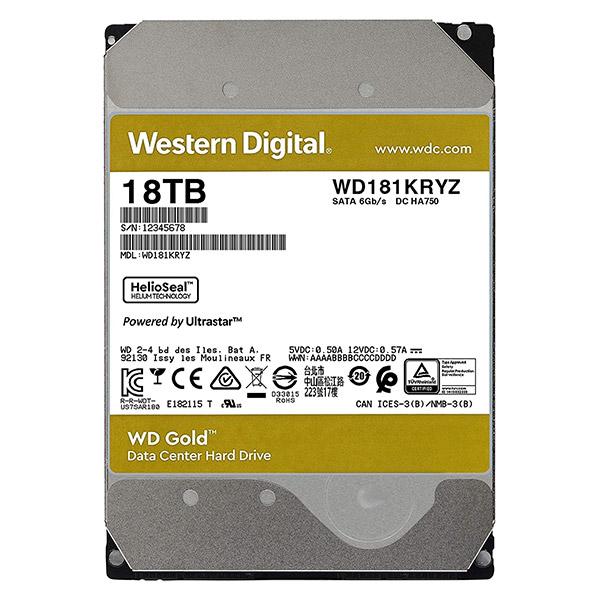 """HDD Western Digital Caviar GOLD 3.5"""" 18TB WD181KRYZ For NAS image"""