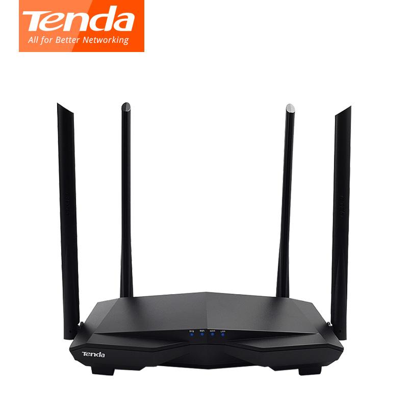 WiFi ETHERNET Router AC1200 Tenda Smart Dual-Band Gigabit AC10U image