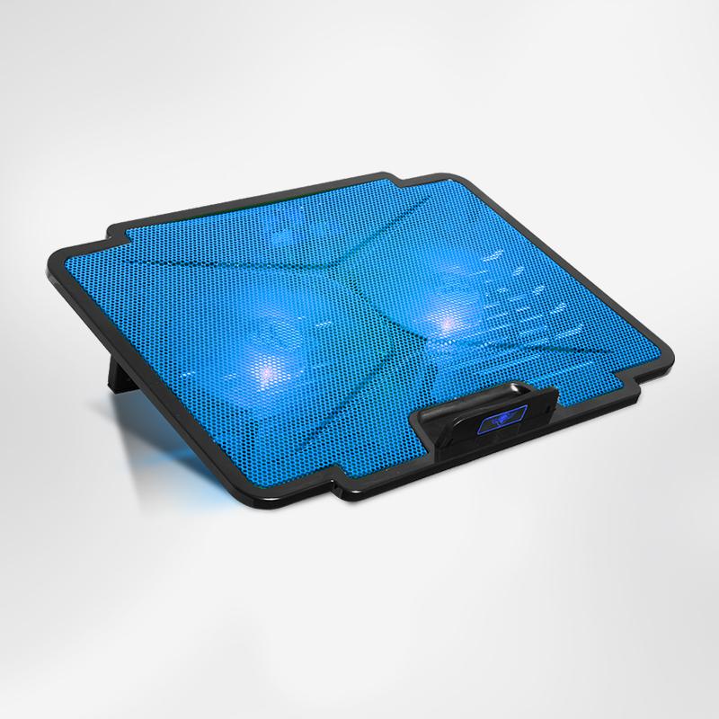 """Βάση Στήριξης Laptop 15.6"""" Με 2 Ανεμιστήρες 120mm SOG Airblade 100 Blue image"""