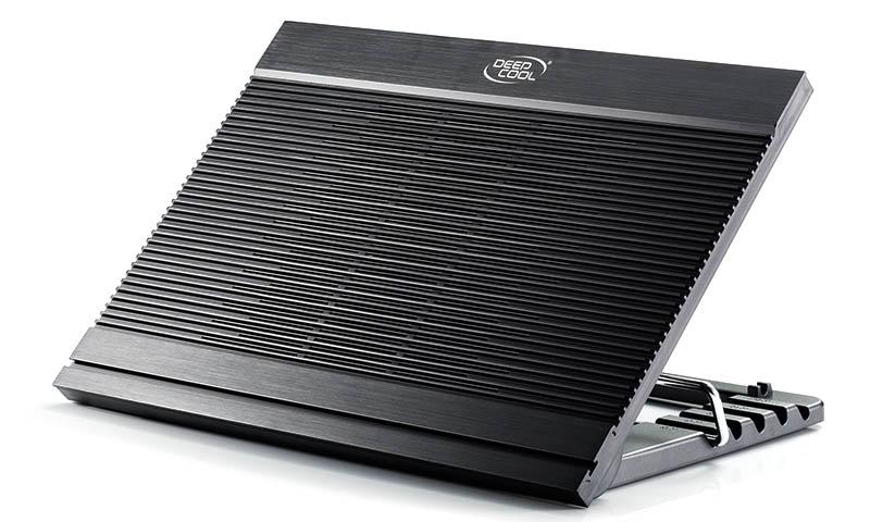 """Βάση Στήριξης Αλουμινίου Μαύρη Για Laptop 17"""" Με 1*180mm Ανεμιστήρα N9 DP-N146-N9BK image"""