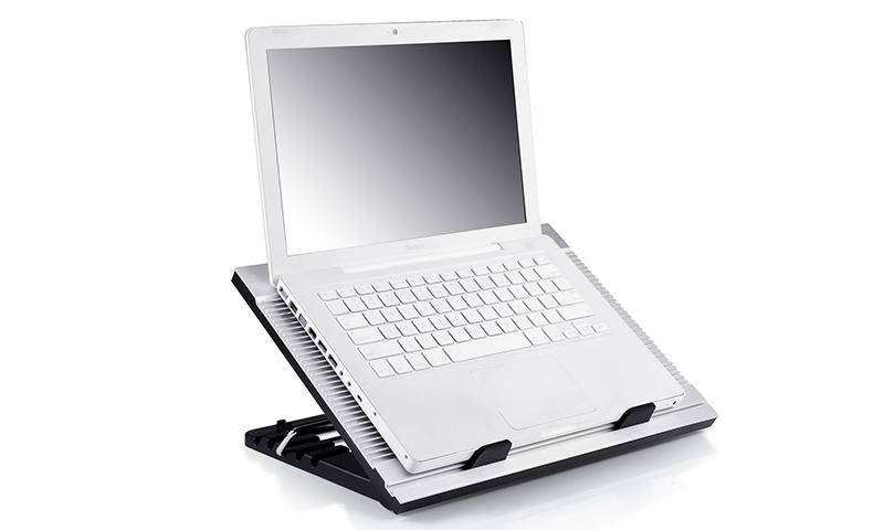 """Βάση Στήριξης Αλουμινίου Ασημί Για Laptop 17"""" Με 1*180mm Ανεμιστήρα N9 DP-N136-N9SR image"""