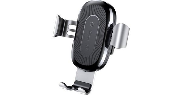 """Universal Car Holder Air Vent 4-6,5"""" Baseus Wireless Charging Silver/Black WXYL-0S image"""