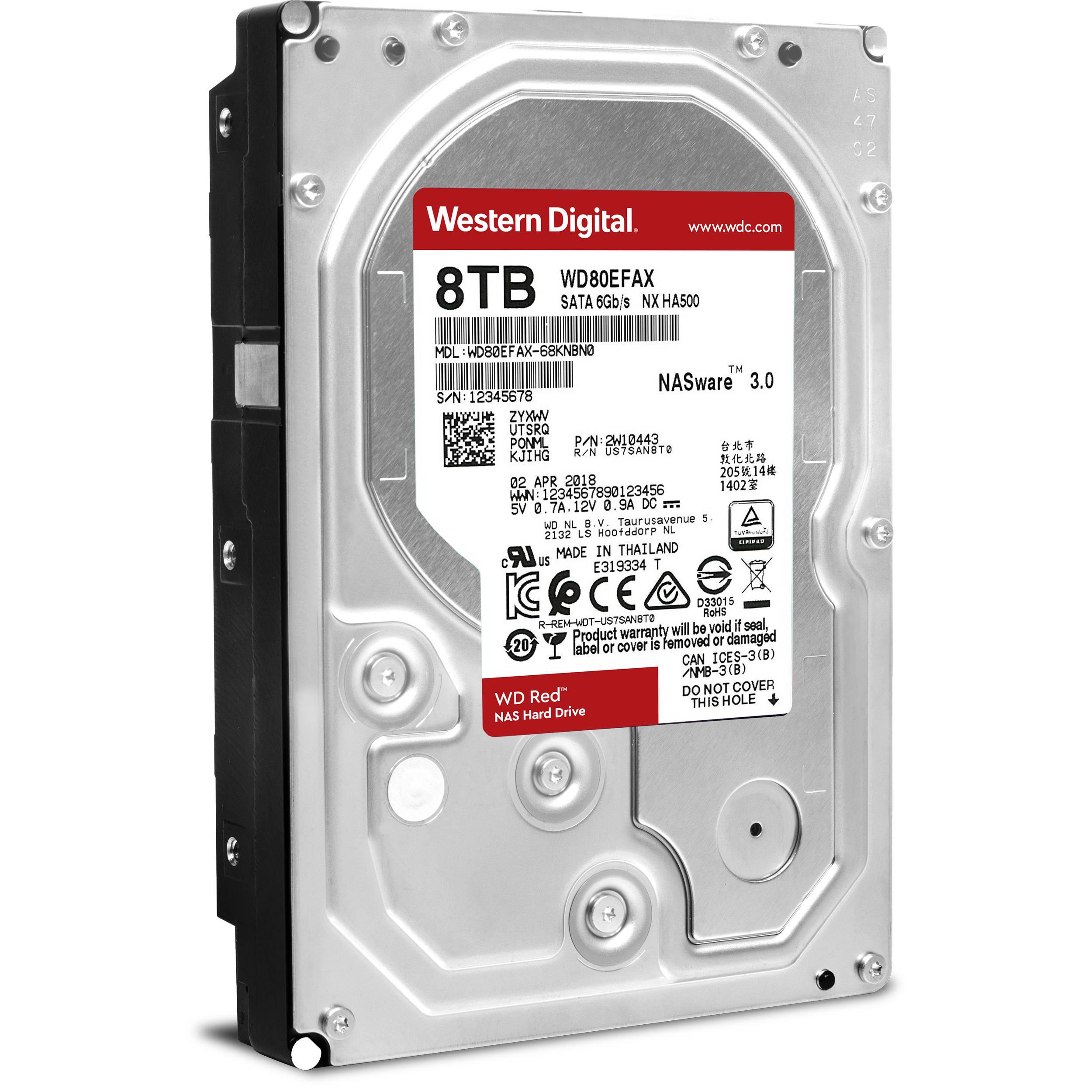 """HDD Western Digital Red NAS 3.5"""" 8TB WD80EFAX"""