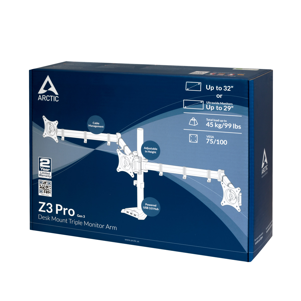 "Desk Mount Triple Monitor Z3 Pro Gen 3 Έως 32"" & Ultra Monitor Έως 29"" Έως 45kg image"