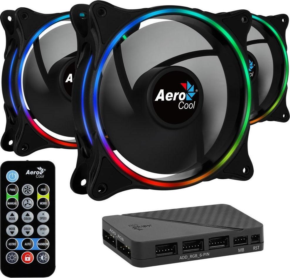 Ανεμιστήρας Eclipse 12 Pro RGB 3in1 +Remote+HUB Aerocool  image
