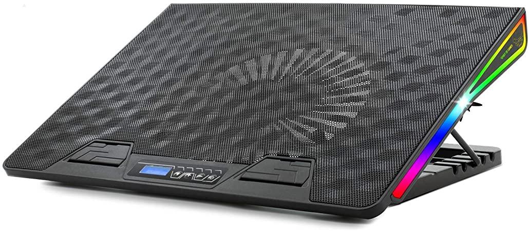 """Βάση Στήριξης Laptop Έως 17"""" Με 1 Ανεμιστήρα 17cm SOG Airblade 800 RGB image"""