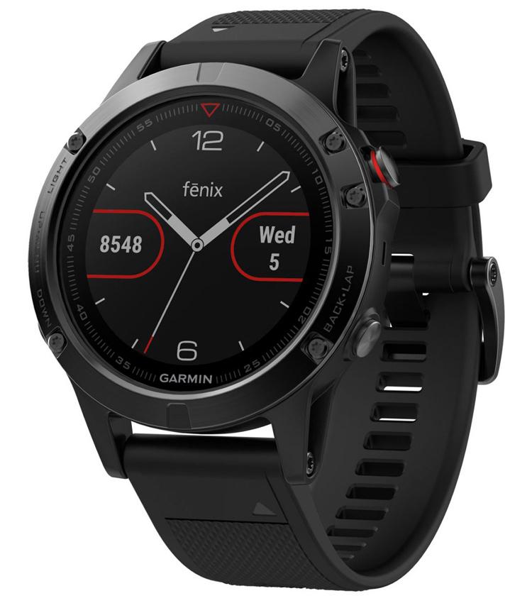 Smartwatch Garmin Fenix 5 Sapphire Edition Black 47mm 010-01688-11 image