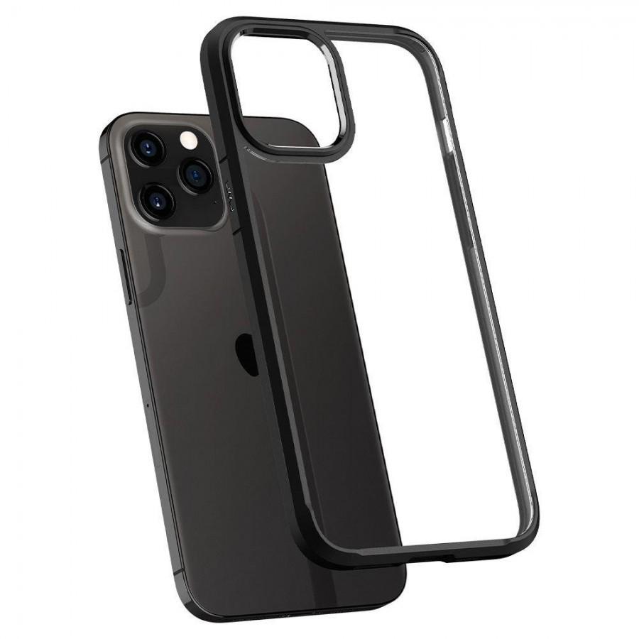 "iPhone 12 Pro Max 6.7"" Spigen Ultra Hybrid Case Matte Black ACS01619 image"