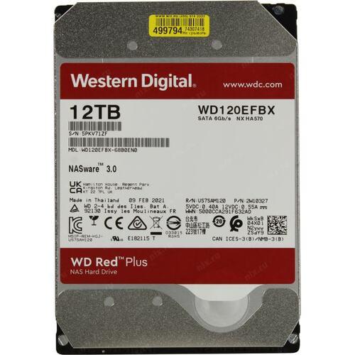 "HDD Western Digital Red Pro NAS 3.5"" 12TB 256mb WD120EFBX image"