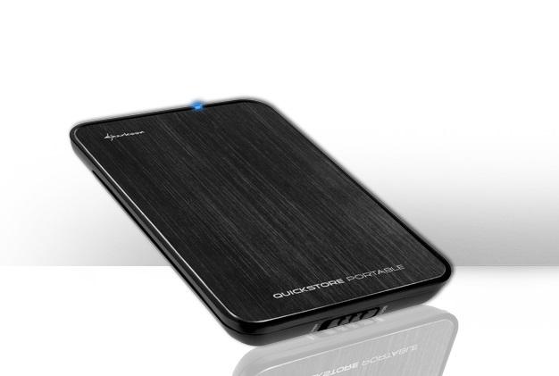 """Εξωτερικό κουτί σκληρού δίσκου HDD Sharkoon Quickstore Black 2.5"""" USB 2.0"""