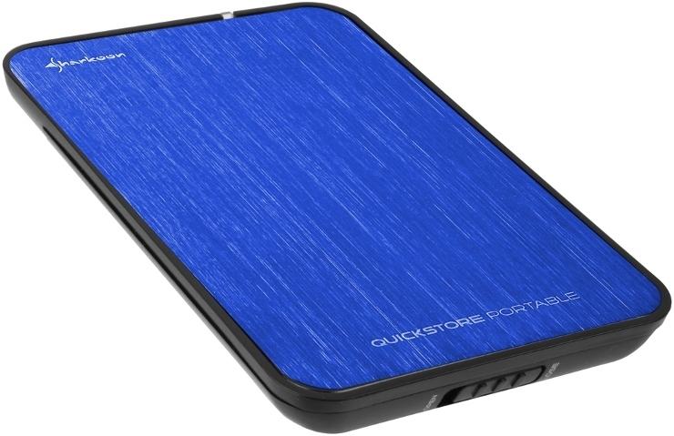 """Εξωτερικό κουτί σκληρού δίσκου HDD Sharkoon Quickstore Blue 2.5"""" USB 2.0"""