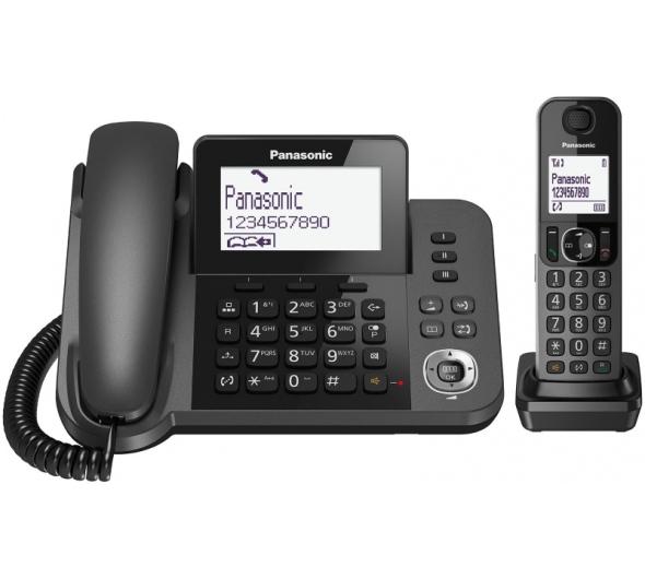 Ενσύρματο/Ασύρματο Τηλέφωνο Με Υποδοχή Handsfree Panasonic KX-TGF310EXM Black image