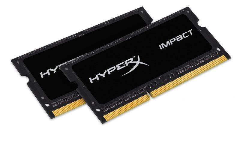 HyperX Impact By Kingston 2X8GB Ram ΓΙΑ ΦΟΡΗΤΟ DDR3L 1600MHz CL9 HX316LS9IBK2/16 image
