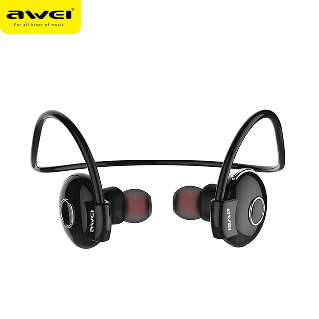 Bluetooth Stereo Awei A845BL Wireless Smart Sports Black Headphones  image