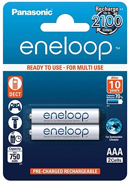 Eneloop 2x HR03/AAA 750mAh BK-4MCCE/2BE Panasonic image