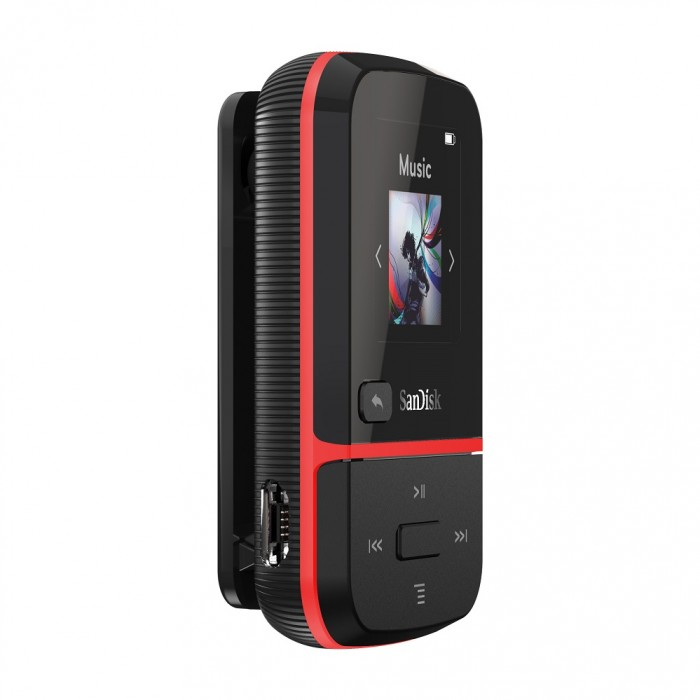 Clip Sport Go Mp3 Player 16GB Sandisk Red SDMX30-016G-G46R image