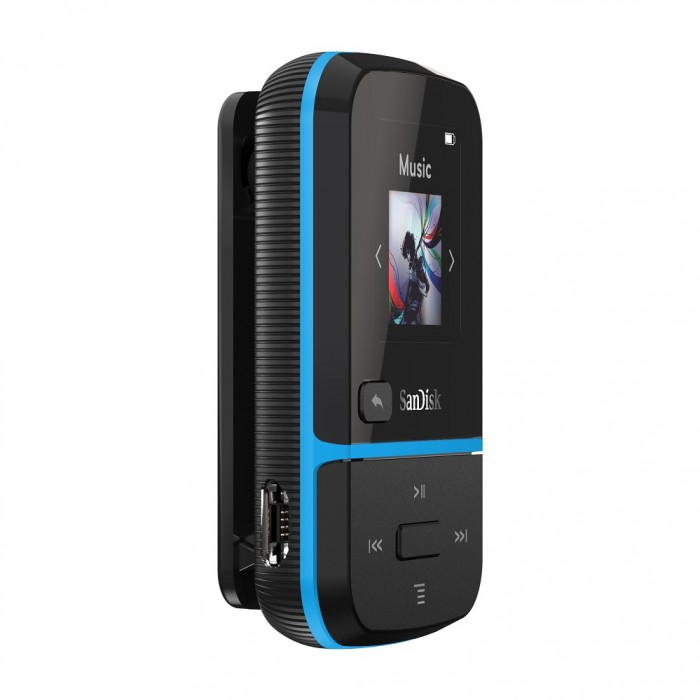 Clip Sport Go Mp3 Player 32GB Sandisk Blue SDMX30-032G-G46B image