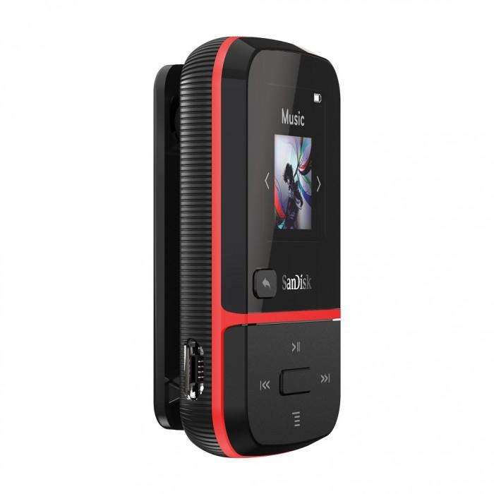 Clip Sport Go Mp3 Player 32GB Sandisk Red SDMX30-032G-G46R image
