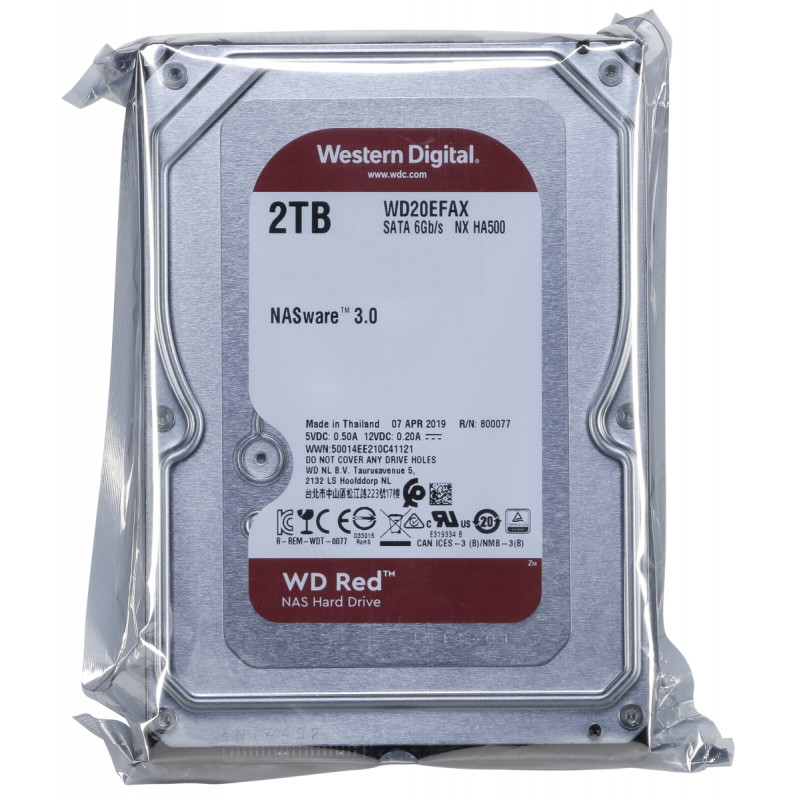 "HDD Western Digital Caviar Red NAS 3.5"" 2TB 256MB Cache WD20EFAX image"