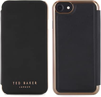 iPhone SE 2020 (8/7/6/6S) Folio Case SHANNON Black/Rose Gold Ted Baker 41939