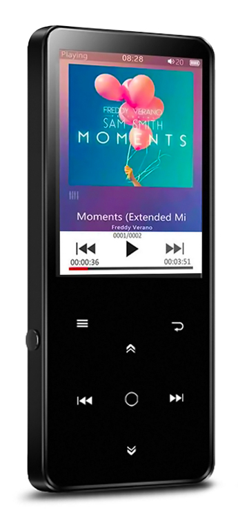 "MP4 Player Benjie BJ-A12PLUS-K11 2.4"" Bluetooth, 8GB Black"