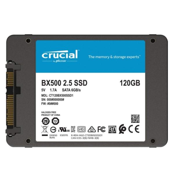 "SSD BX500 120GB 2.5"" SATA3 Crucial CT120BX500SSD1 image"