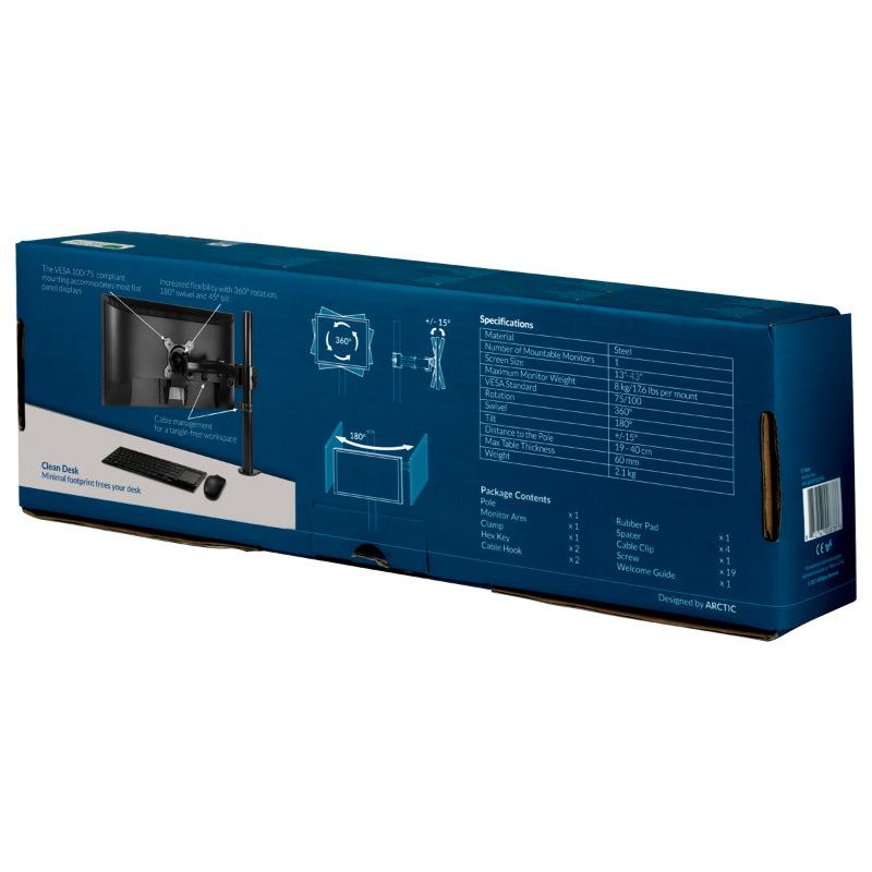 """Βάση Οθόνης Desk Mount Monitor Arm Z1 Basic 13""""-43"""" Εως 15kg AEMNT00039A image"""