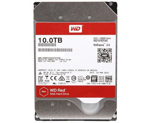 "HDD Western Digital Red NAS 3.5"" 10TB 256mb WD101EFAX image"