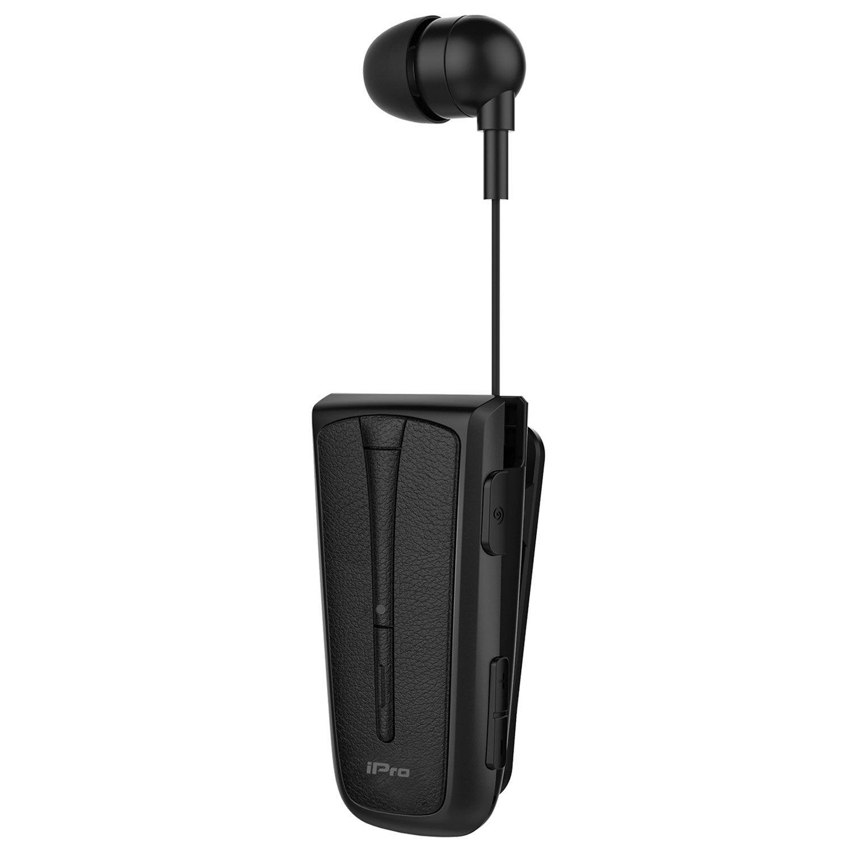 Bluetooth Headset iPro RH219s Restractable με δόνηση Μαύρο image