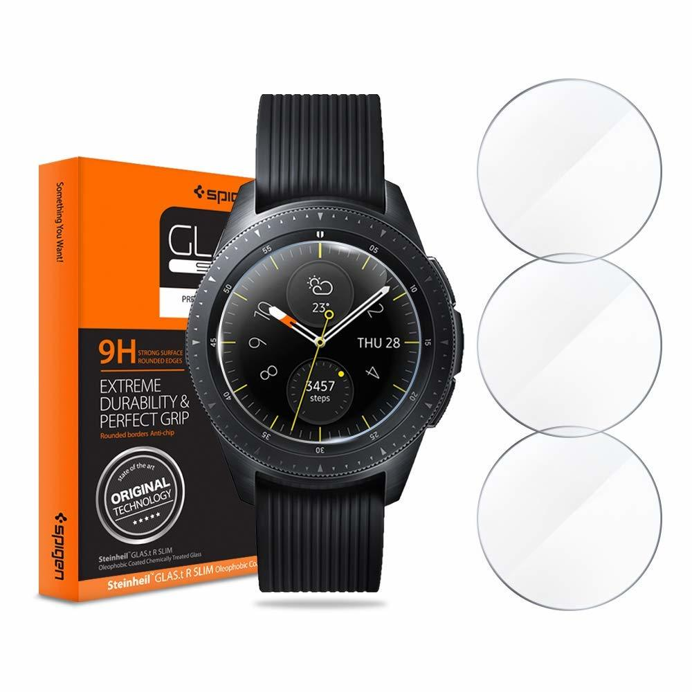 Tempered Glass x3 Glas.tR Slim Spigen 9H Samsung Galaxy Watch 42mm 600GL25075 image
